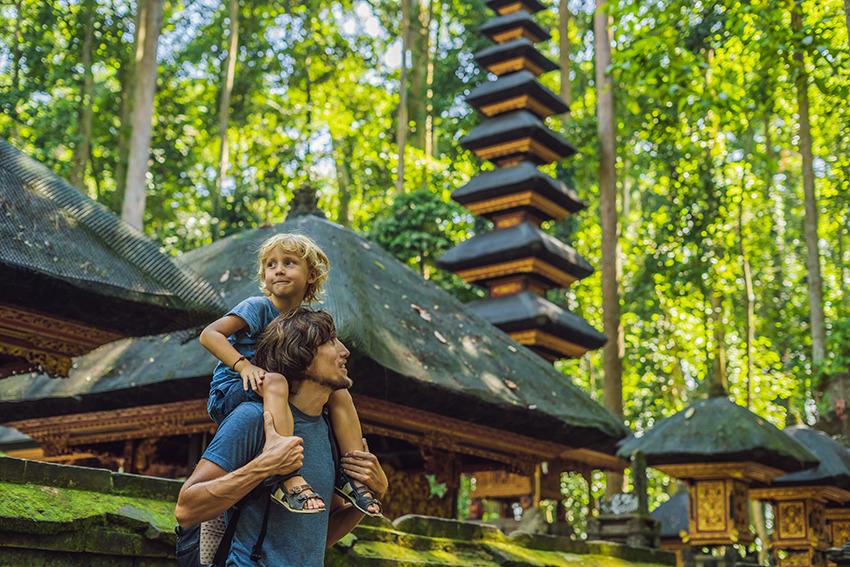 Voyage à pied : Bali en famille