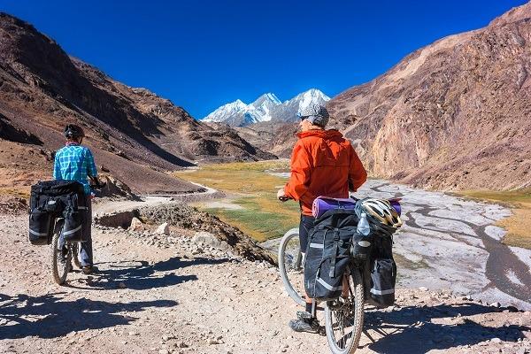 Image Faire du vélo à travers sikkim