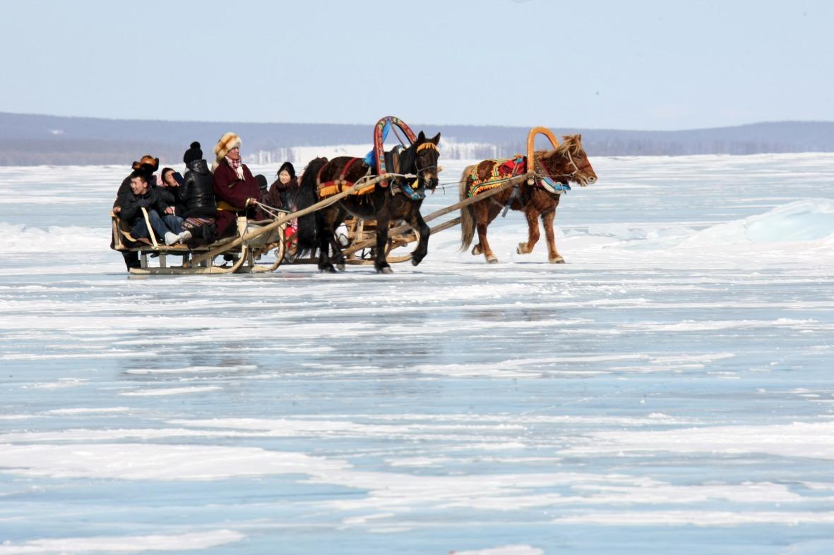 Voyage à pied : Mongolie : Festivités hivernales