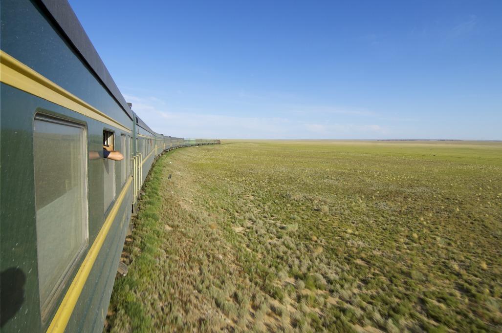 Voyage à pied : Entre steppe et désert par le train